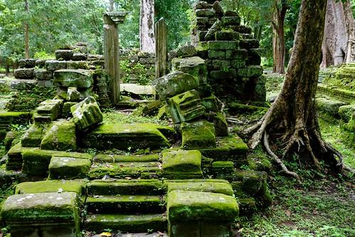 Remains of temple at Angkor Thom