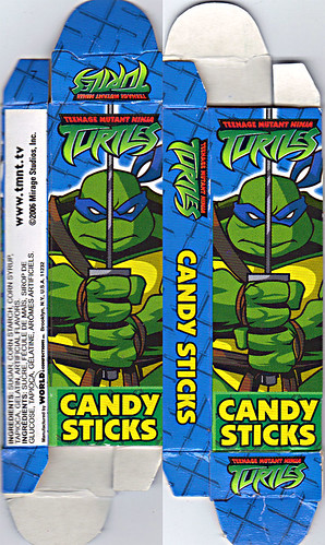 WORLD Confections :: COMIX MIX CANDY STICKS vi / ..'Leonardo' box  (( 2008 ))