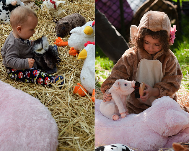 Pretend Petting Zoo. Photos by Jean-Marc Grambert (left) and Jason Gardner (right).