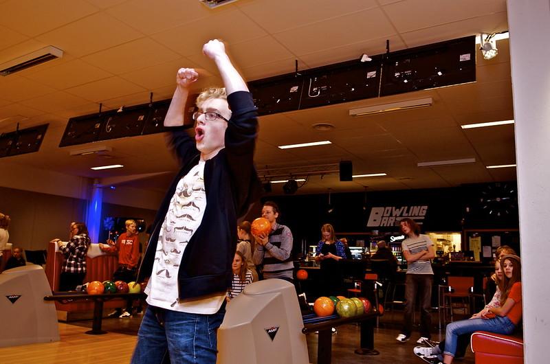 Jubel i bowlinghallen!