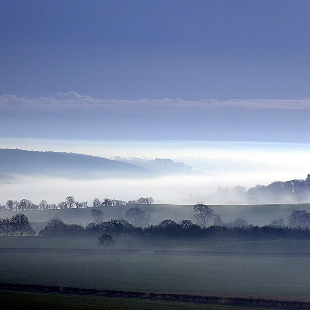 Early Morning Mist Over Dunstable Downs
