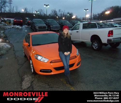 Happy Anniversary to Karissa Ciera Dinger on your 2013 #Dodge #Dart from Chad Carpenter  and everyone at Monroeville Dodge! #Anniversary by Monroeville Dodge