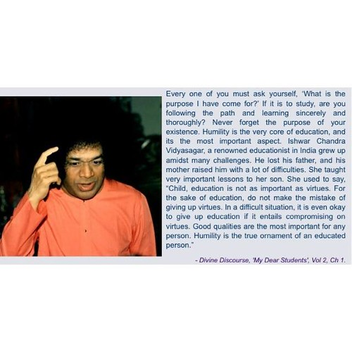 What is more important than even education for a student? Bhagawan guides us quoting the wise counsel of a noble mother. #saiinspires #quote #thoughtoftheday #quoteoftheday #saying #quotes #message #sri #sathya #sai #baba #sairam #saibaba #prashanti #nila
