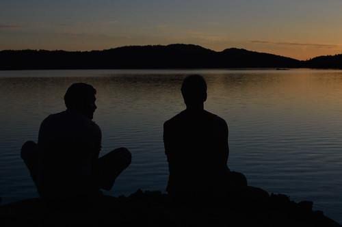 David Lake Sunset