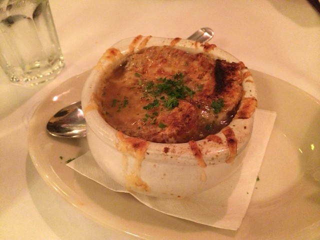 Onion soup - Cafe Bastille