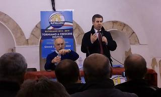 Lanfranco Di Gioia e il sindaco Romagno