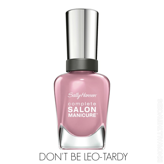 Sally Hansen Complete Salon Manicure Pastels on Point - Don't be Leo-Tardy