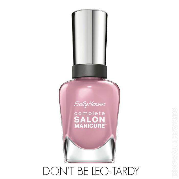 Sally Hansen Complete Salon Manicure Pastels on Point - Don't be Leo-Tardy