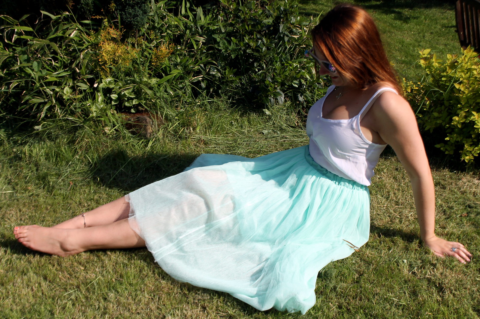 Pastel tulle skirt outfit