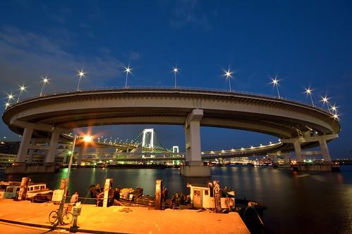レインボーブリッジ_夜景_ループ橋