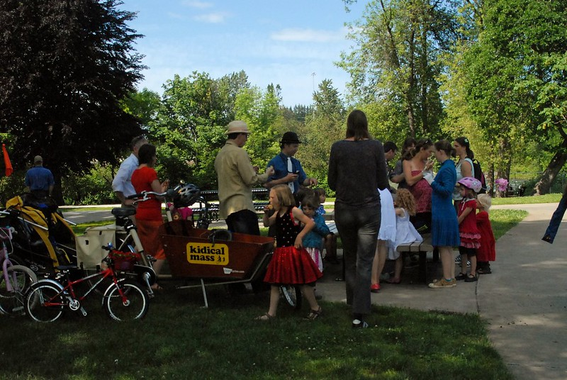 Tea and Scones at Kidical Mass Tweed Ride