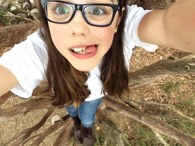 Elena tree selfie