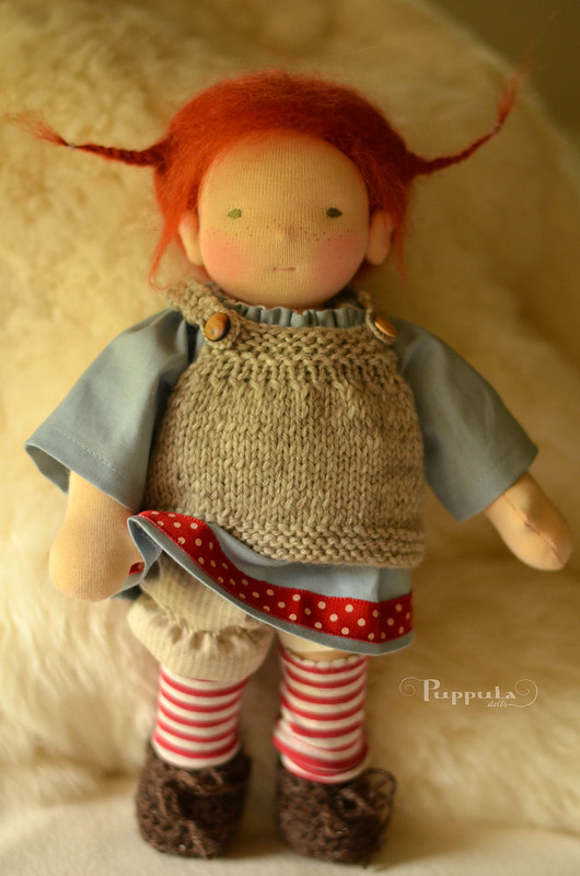 Pipi Duga, 12 inch waldorf inspired doll