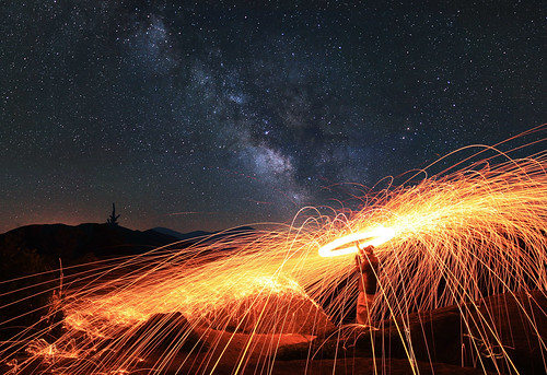 light wool night painting way landscape fire long exposure head steel adirondacks swirl milky owls adks