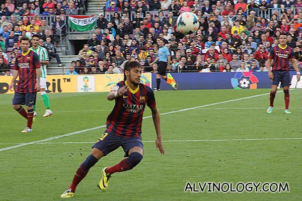 Neymar in action