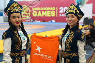Save the Dream in II World Nomad Games stadium