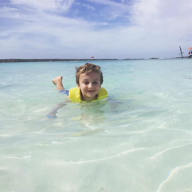 Swimming in the Bahamas at Castaway Cay
