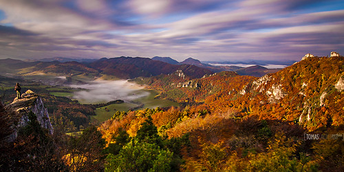 slovakia sulovske skaly autumn fotka slovensko flickr panorama jesen morning sun waking up long exposure photographers mist valley