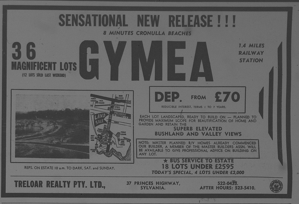 Gymea Land Release Ad The Sun October 14 1966 63