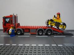 le camion porte-engin lego