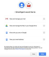 อย่าง Gmail ก็แค่อนุญาตให้ Qmail Agent เชื่อมต่อเอง