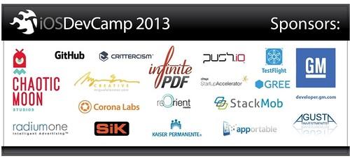 iOSDevCamp 2013 Sponsors