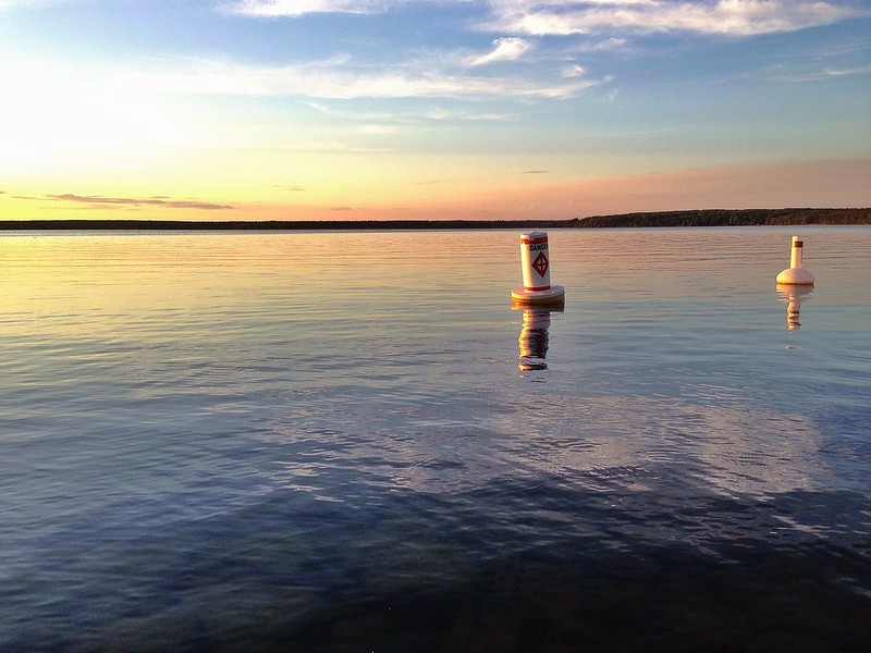 buoys at Waskesiu