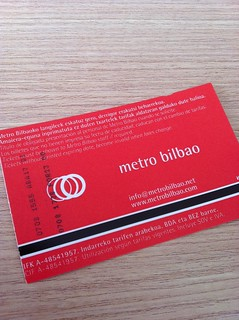 Bilbao Subway ticket. Logo by Otl Aicher