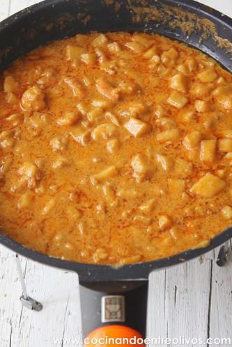 Gambones con manzana y leche de coco www.cocinandoentreolivos (11)