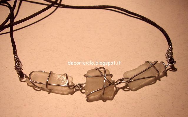 collana con pezzi di vetro levigati 2