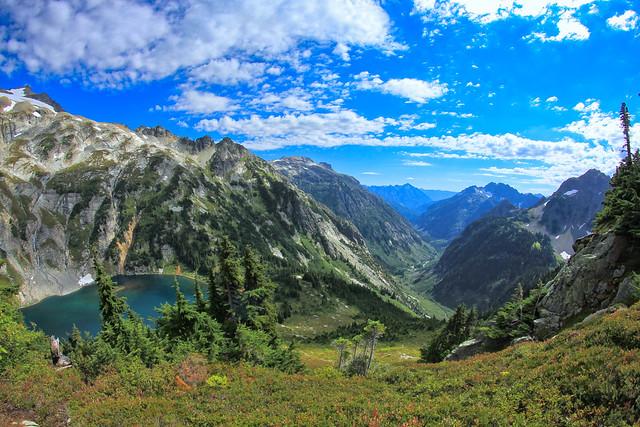 Overlooking Doubtful Lake - Sahale Arm - Cascade Pass - North Cascades National Park