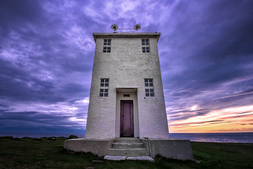 ocean door travel blue sunset summer sky sun lighthouse building slr water architecture clouds digital photoshop photography coast photo iceland nikon europe european purple cloudy dusk fineart steps landmark arctic doorway photograph processing nordic bluehour dslr puffins cloudscape ísland midnightsun lavendar d800 icelandic westfjords postprocessing travelphotography birdcliff látrabjarg latrabjarg northiceland westiceland thefella conormacneill thefellaphotography