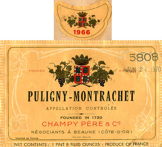 France - Puligny-Montrachet 1966