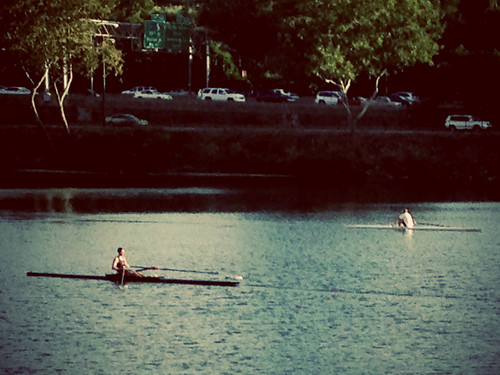 single sculls on the Schuylkill River