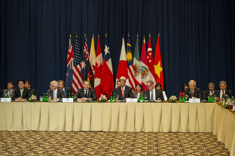 Secretary Kerry Participates in the TPP Meeting with Nations' Leaders