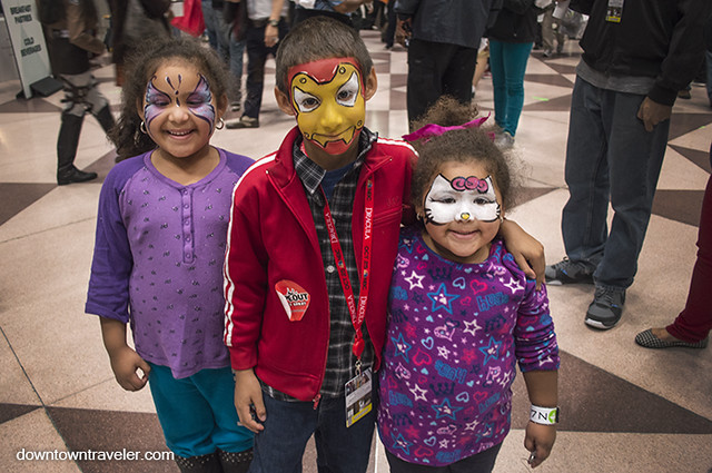 NY Comic Con Kids Costumes Face Paint