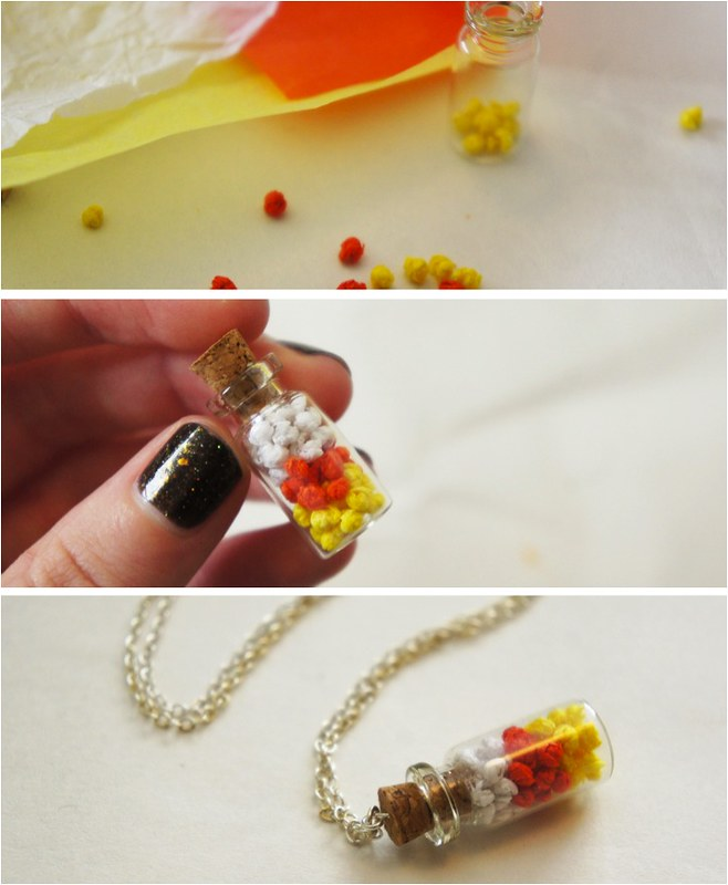 diy candy corn necklace