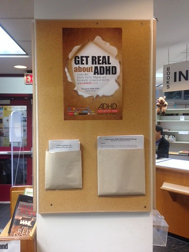 Kerrisdale Library, Vancouver ADHD Awareness Week book display photo 2013 #3