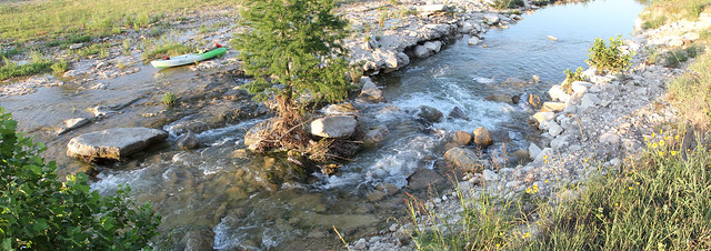 My Kayak at Moccasins Falls !Beware!