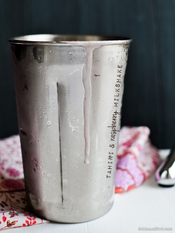 Tahini & Raspberry Power Breakfast Shake