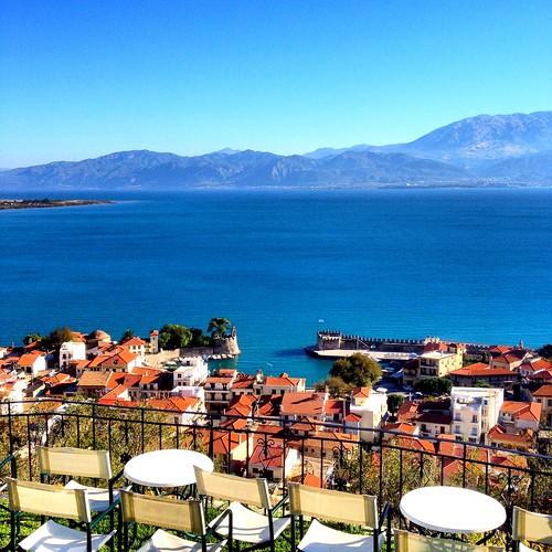 blue sea sun view shades calm greece tiles colorvibefilter