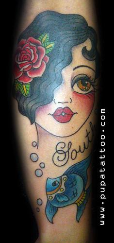 Tatuaje cara muñeca Pupa Tattoo, Granada by Marzia PUPA Tattoo