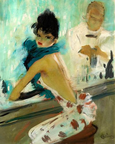 003-En el café Carlton-Jean Gabriel Domergue