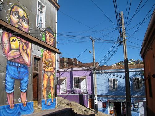 Graffitis en el cerro Polanco