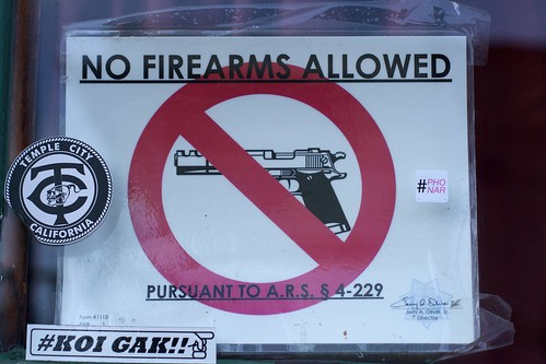 No Firearms, But #phonar Allowed