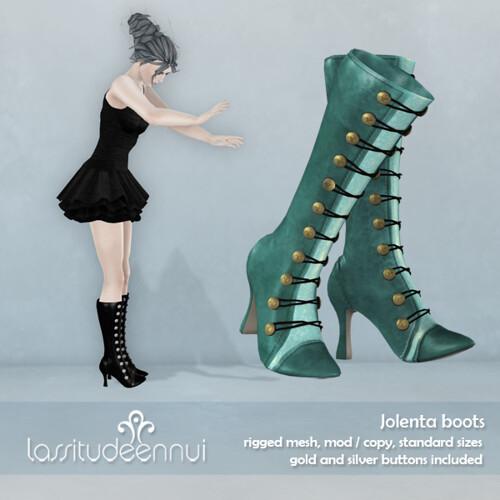 lassitude & ennui Jolenta boots