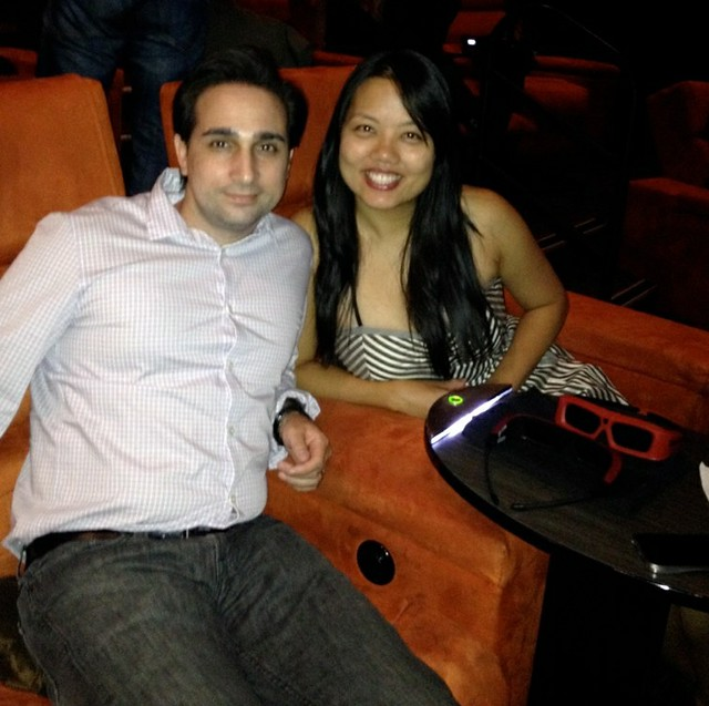 Sergio and Elsie _ movie theater