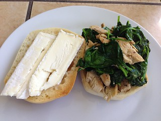 Spinach Chicken & Brie Sammy - 365 Days of Food 325:365:2013