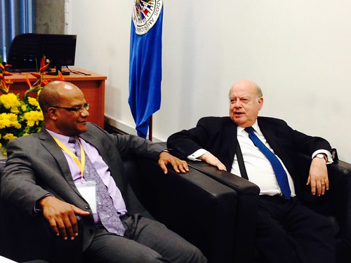 Secretary General Insulza Meets with the Minister of National Security of Jamaica