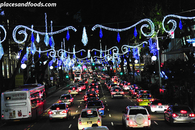 orchard road christmas lights 2013 street lights